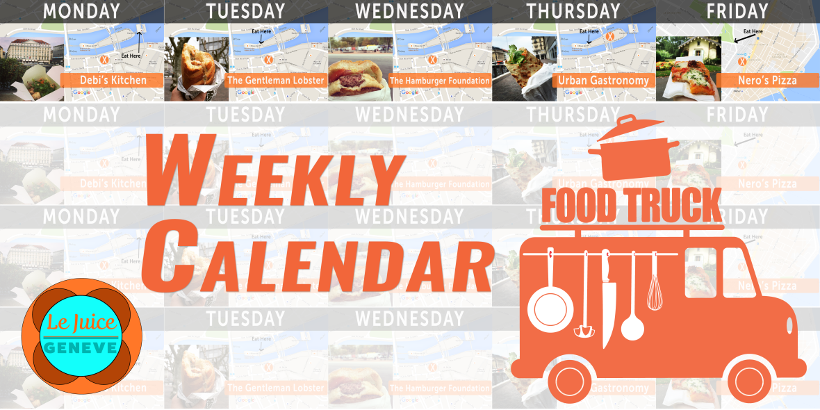 Weekly food truck Calendar for Geneva