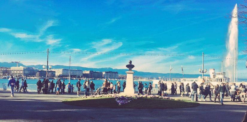 The waterfront on Lake Geneva