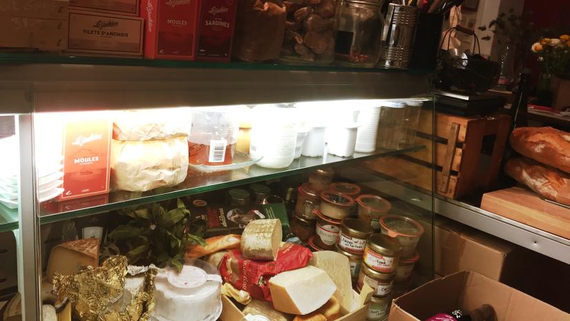The deli counter at Mi Food Mi Raisin in Geneva.