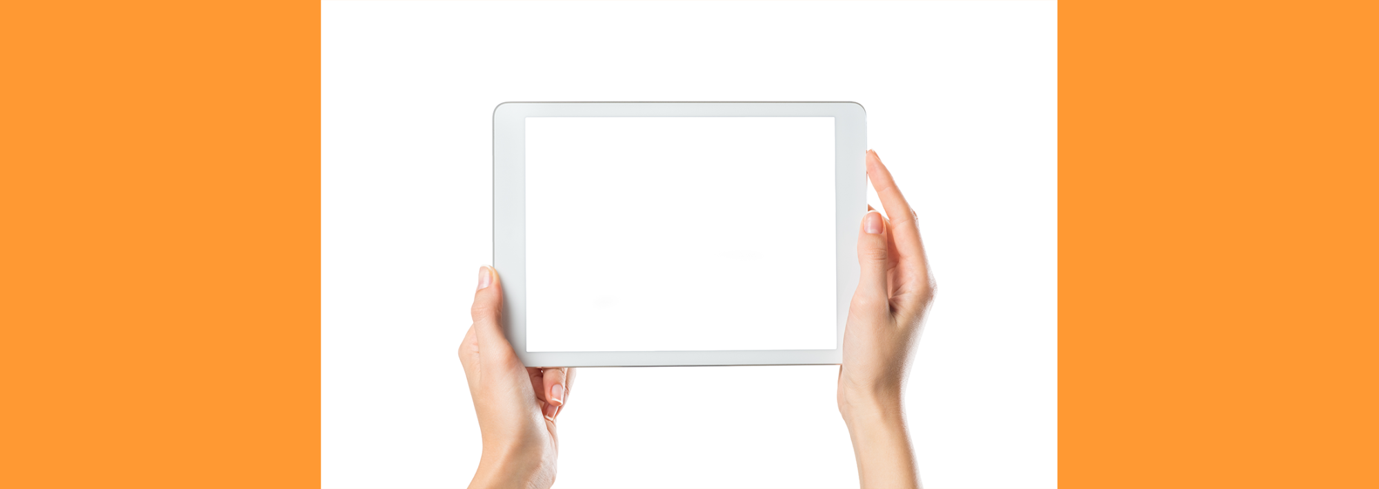 A blank IPAD offering a world of digital communications
